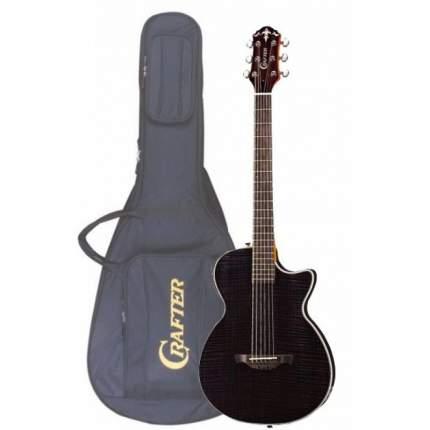 Электроакустическая гитара шестиструнная CRAFTER CT-120 TBK  Чехол