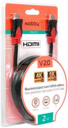Кабель NBE-HC-20-01 HDMI-HDMI v2,0, 2м Black