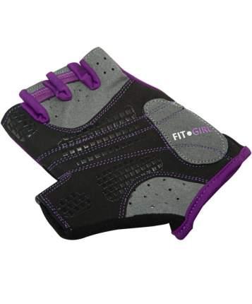 Перчатки для фитнеса StarFit SU-113, черные/фиолетовые/серые, 6,5