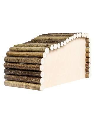 Домик для грызунов Zoobaloo Волна правый угол большой, 28 х 15 х 17 см