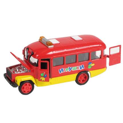 Машина Технопарк инерционная, металлическая КАВЗ игрушки, капот, со светом и звуком