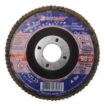 Диск лепестковый для угловых шлифмашин ЛУГА 3656-115-80