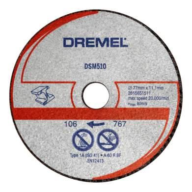 Отрезной диск по камню для угловых шлифмашин DREMEL 2615S510JA