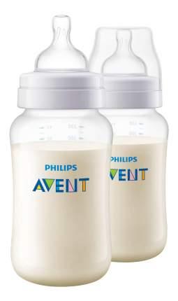 Детская бутылочка Philips Avent Classic+ SCF566/27, 330 мл, 2 шт., 3 мес.+