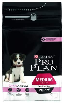 Сухой корм для щенков PRO PLAN OptiDerma Medium Puppy, для средних пород, лосось, 1,5кг