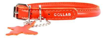 Ошейник COLLAR GLAMOUR круглый для длинношерстных собак, 6мм, 25-33см, оранжевый