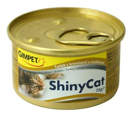 Консервы для кошек GimPet ShinyCat, рыба, 70г