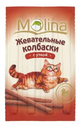 Лакомство для кошек Molina Жевательные колбаски с уткой, 36г