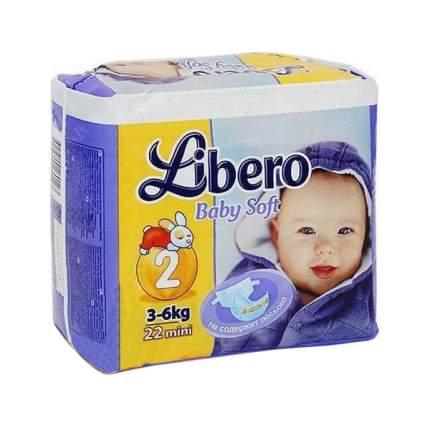 Подгузники Libero Baby Soft Mini 2 (3-6 кг), 22 шт.
