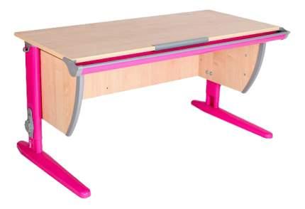Парта Дэми Классик 120 см клен/розовая