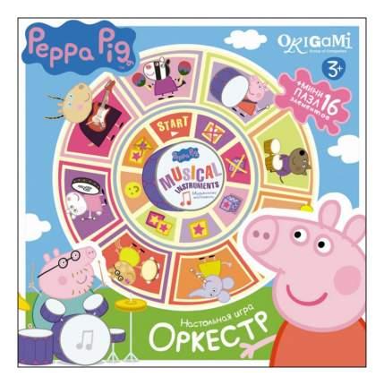 Семейная настольная игра Origami Peppa Pig Карусель-лото, Оркестр