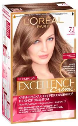 Краска для волос L`Oreal Paris Excellence Creme 7.1 Русый пепельный