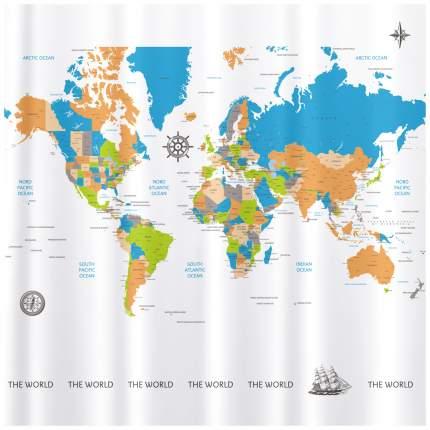 Штора для ванной Tatkraft Map 180x180 см