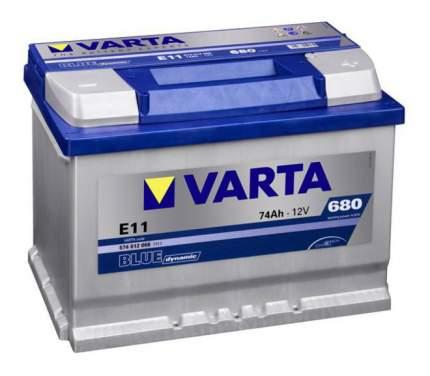 Аккумулятор автомобильный автомобильный Varta Blue dynamic 5740120683132 74 Ач