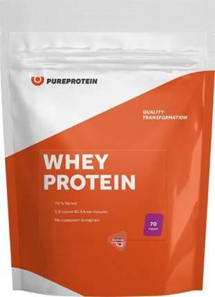 Протеин PureProtein Whey Protein 2100 г клубника со сливками