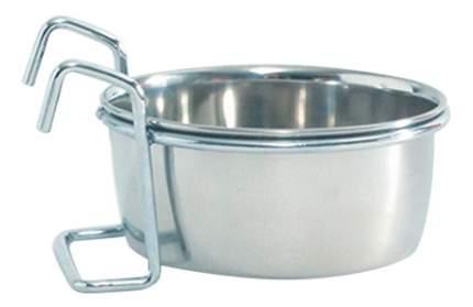 Одинарная миска для собак Beeztees, сталь, серебристый, 0.3 л