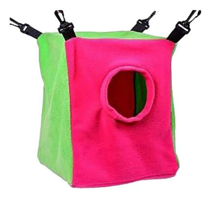 Домик для грызуна OSSO Fashion текстиль, 30х23х28см, цвет розовый, зеленый