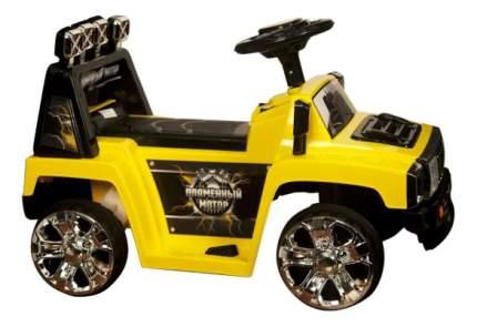 Электромобиль Пламенный мотор Джип желтый
