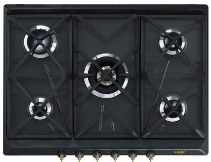 Встраиваемая варочная панель газовая Smeg SRV 876AOGH Black