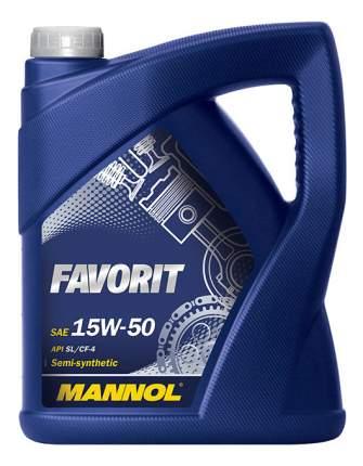 Моторное масло Mannol Favorit 15W-50 5л