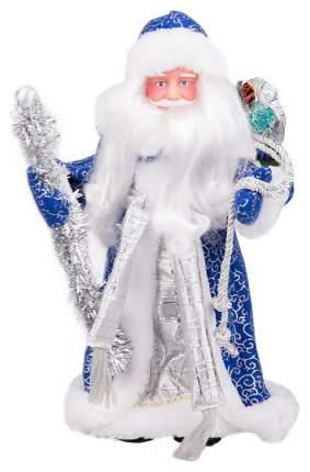 Кукла декоративная Яркий праздник Дед Мороз Синий 41 см