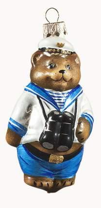 Елочная игрушка Ариель Мишка моряк разноцветный 731