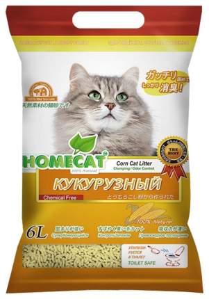 Наполнитель HOMECAT Эколайн комкующийся 2.82 кг кукурузный