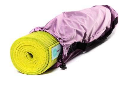 Чехол для йога-коврика RamaYoga Симпл с карманом 691879 60 см розовый