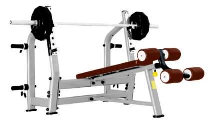 Скамья со стойкой наклонная Bronze Gym J-024