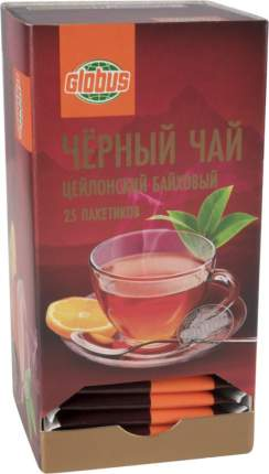 Чай черный Глобус цейлонский 25 пакетиков