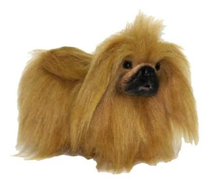 Мягкая игрушка Hansa Собака Пекинес 27 см коричневый 4137