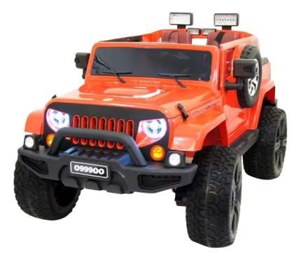 Электромобиль Jeep Wrangler оранжевый RIVERTOYS