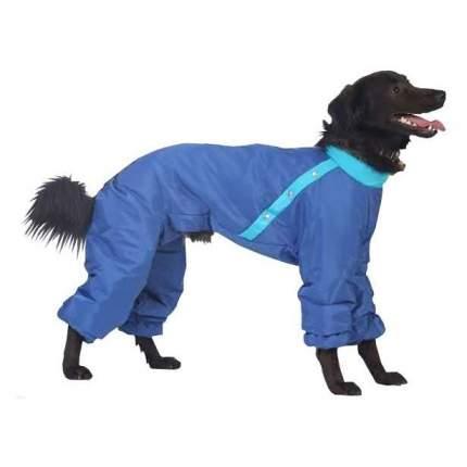 Комбинезон для собак ТУЗИК размер XXL женский, голубой, длина спины 45 см