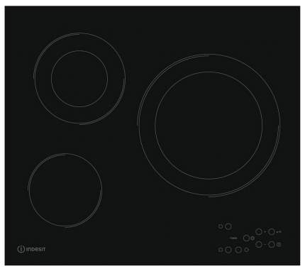 Встраиваемая варочная панель электрическая Indesit RI 360 C Black