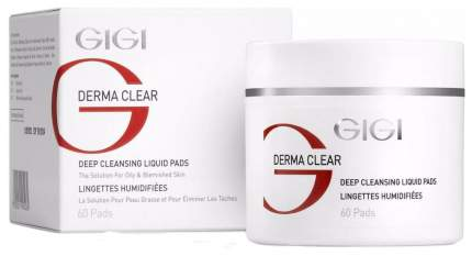 Ватные диски Gigi Derma Clear Deap Cleansing Liquid Pads 60 шт.