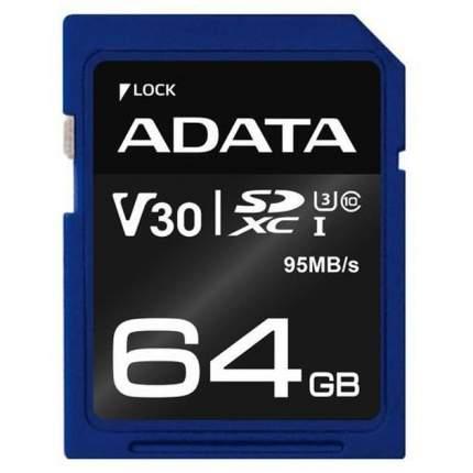Карта памяти ADATA SDXC Premier Pro 64GB
