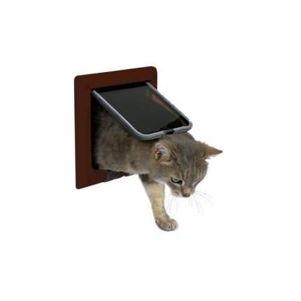 Дверца для кошек TRIXIE 4-Way Cat Flap, коричневая, 14,7х15,8см