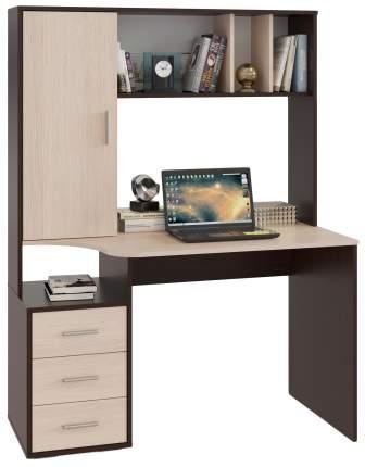 Компьютерный стол СОКОЛ КСТ-16 120x60x160 см, бежевый/коричневый