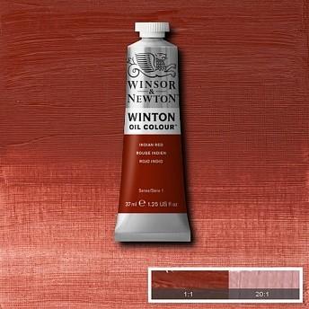 Масляная краска Winsor&Newton Winton красный индийский 37 мл