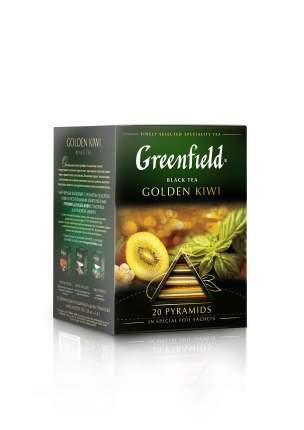 Чай черный Greenfield в пирамидках golden kiwi 20 пакетиков