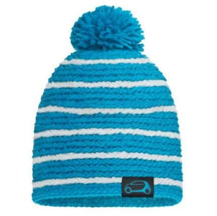 Зимняя вязаная шапка Smart B67993580 White-Blue