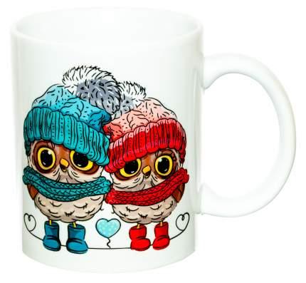 Керамическая кружка 3Dollara Милые совы в шапочках. MUG0298