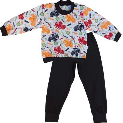 Пижама детская Папитто, цв. белый; черный р.92