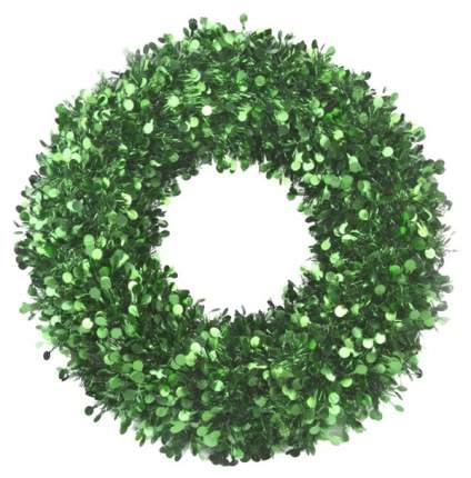 Венок новогодний Феникс Present Большой с зелеными кругами 78836