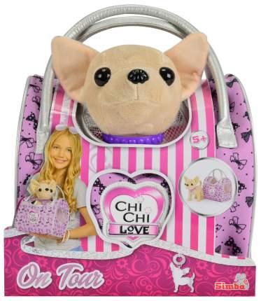 Мягкие игрушки животные Chi Chi Love Собачка Путешественница с сумкой-переноской