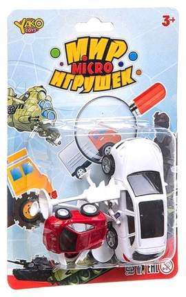 Набор машинок с дорожными знаками Yako Toys серия Мир micro Игрушек арт.M7736.