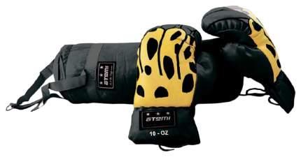 """Боксерский набор для детей Atemi """"BS-10"""", 10 унций, цвет черный"""