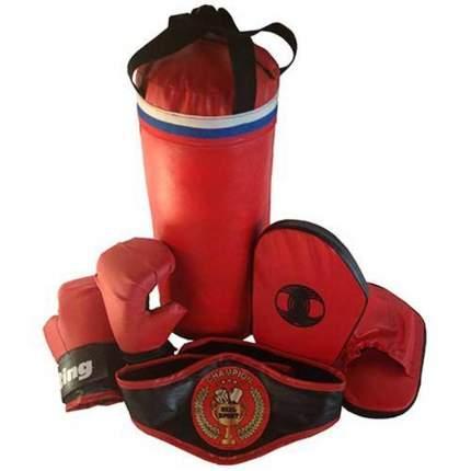 Набор боксерский RealSport ЧЕМПИОН мешок 45 см, перчатки, палы, пояс чемпиона