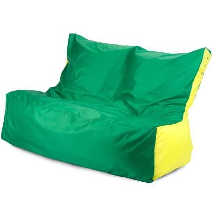 Бескаркасный диван ПуффБери Оксфорд one size, оксфорд, Зеленый/Желтый