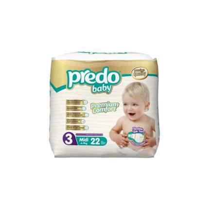 Подгузники Predo Baby Экономичная пачка (22 шт.) № 3 (4-9 кг.) средний